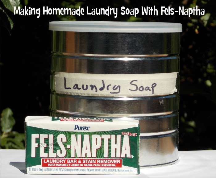 Making Homemade Laundry Soap With Fels-Naptha