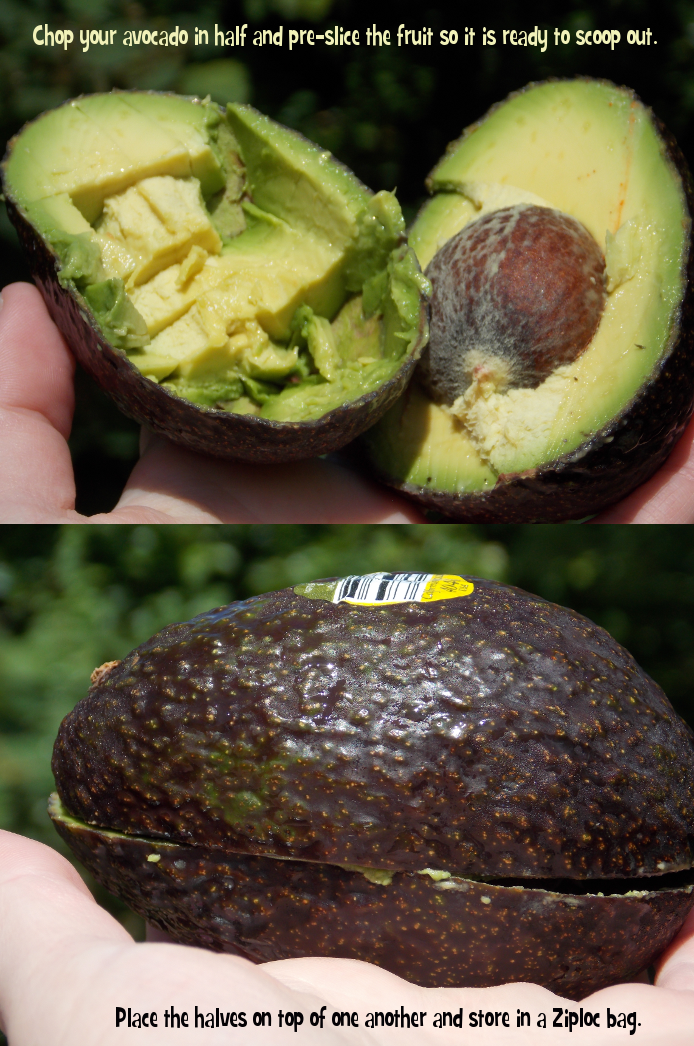 Preparing avocado