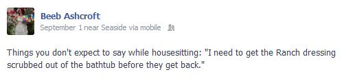 My Facebook Status...