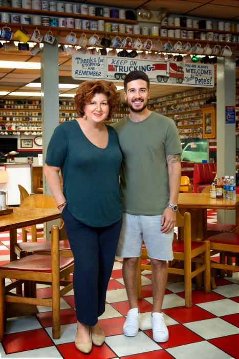 Paola and Vinny Guadagnino on Cooking Channel's Vinny & Ma Eat America